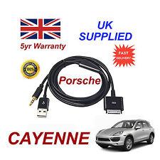 PORSCHE CAYENNE CDR-31 Audio System iPhone 3GS 4 4S iPod USB & Aux Cable black
