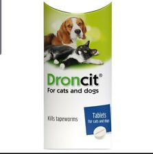 More details for droncit tapeworm de-wormer single tablet for cats and dogs