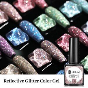 UR SUGAR Reflective Glitter Gel Polish Holo Soak Off Gel Varnish UV LED Nail Art