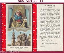 863 SANTINO HOLY CARD REGINA SACRATISSIMI ROSARI ROSARIO DI POMPEI ED G MI 124