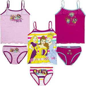 New Underwear 2tlg Set Girl Set Shirt Panties Disney Princess 92-122 #86