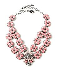 """NEW Amrita Singh """"Stately"""" Light Coral & Peach Crystal & Resin Necklace $120"""