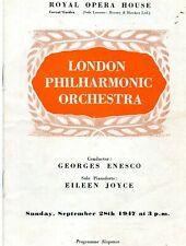 ROYAL OPERA HOUSE. LONDON PHILHARMONIC ORCHESTRA 1947 CONCERT PROGRAMME.