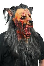 Wolf Mask Werewolf Adult Scary Masquerade Head For Men Bloody Predator Latex