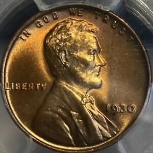 1930-P PCGS MS66RD Red Lincoln Cent Wheat Penny Gem UNC