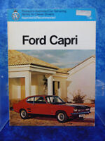 FORD CAPRI Pearson's Illustrated Car Servicing Manual/Guide RAC Approved BOOK