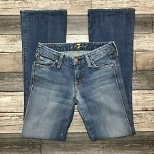 7 For All Mankind A Pocket Jeans Women's 25 (Actual W26 L31) Light Wash EUC!