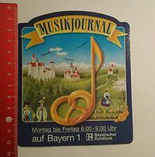 Aufkleber/Sticker: Bayern 1 Musikjournal Bayerischer Rundfunk (01091674)