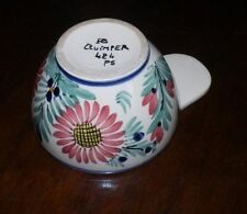RARE FORM  Quimper 1 Handle Bowl or Cup French Vintage Fleuri Pattern