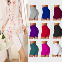 Women's Fitness Bike Shorts Soft Workout Yoga Stretch Leggings Cotton Spandex