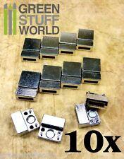 10x CIERRES PULSERA MAGNETICO iman - Plata Tibetana - agujero 2.7x10mm