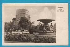 603 ▶ AK Dresden Platz der Einheit Straßenbahn Thale 1954 DDR
