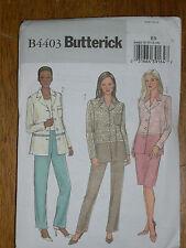 BUTTERICK PATTERN 4403 Sz 8-10-12-14 SHIRT JACKET SKIRT Straight Leg Pants +Easy