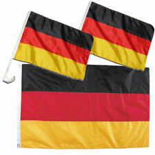Fan Set Deutschland 2 x Autofahne, 1 x Fahne Flagge BRD