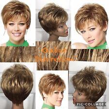 "Gabor Wig ""Discretion"" Short Flirty Asymetrical Sz Avg GL27-39 Dark Ginger Blond"