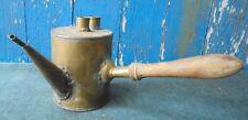 Ancienne BURETTE BAIN-MARIE A CIRE en laiton Apiculteur Ruche