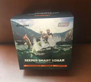 Deeper Chirp! DO3H30S10 GPS WIFI Wireless Smart Sonar Fish Finder. Open Box