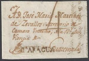 Honduras 1808 Omoa to Guatemala via Rivas (Nicaragua)