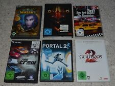 6 PC Spiele World of Warcraft Diablo 3 NewYork Taxi The Crew Portal2 Guildwars 2