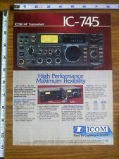 1986 ad page - ICOM IC-745 Radio Transceiver ADVERTISING #15
