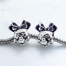 Wholesale 5pcs silver mouse European Charm Bead Fit 925 Necklace Bracelet Chain