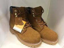 Bonanza Mens Size 9,  Goodyear Tan Lace Up Round Toe Work Boots BA610 BRAND NEW.