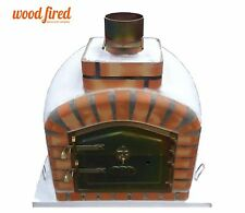 brick outdoor wood fired Pizza oven 100cm x 100cm Pro model with chimney mount