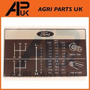 Gear Shift Pattern Decal 8 Speed Dash Sticker for Ford 2000 2600 3000 Tractor