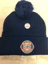 2016 Chicago Cubs World Series Champs Blue Knit Winter Hat MLB Hologram  Logo Ove 55ff36869d8