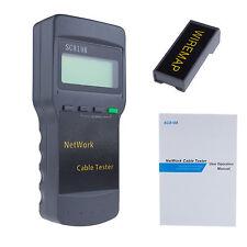 Pro LCD 5E 6E SC8108 CAT5 RJ45 Network LAN Length Cable Tester Meter LT