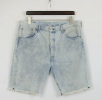 LEVI STRAUSS & CO. 501 CT Men's W36 Acid Wash Button Fly Denim Shorts 25376/JS