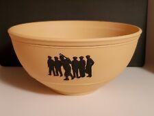 "New ListingWedgwood Yellow Jasper Ware Bowl With Black 7.5"" Wgc-Nec* Limited Edition 2003"