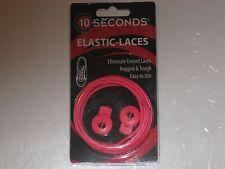 """Ten Seconds Elastic Stretch Shoelaces Shoe Laces Lock Lace Pink  36"""" Unisex"""