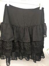 ARIAT Black Layered Look Skirt Ladies MEDIUM Stretch Waist NWT