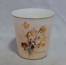Goebel W Germany Berta Hummel Gallery Painted Tumbler Daffodils and Anemones
