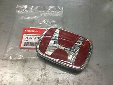 2017 GENUINE HONDA CIVIC 5DR HATCHBACK TYPE-R REAR RED H EMBLEM