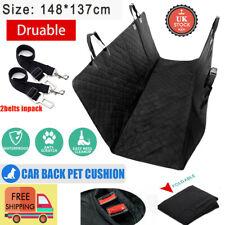 Car Rear Back Seat Cover Pet Dog Cat Protector Waterproof Hammock Mat + Seatbelt