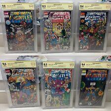 Marvel Infinity Gauntlet 1991 1-6 Signed By Perez Starlin Rubinstein CBCS Graded