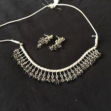 Fashion Jewellery Indian Women Silver Oxidized Peacock Necklace Set Fashion Jewelry Bihu Trible