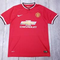 Nike Manchester United Soccer Football Home Jersey Mens Large 2014-2015 T11