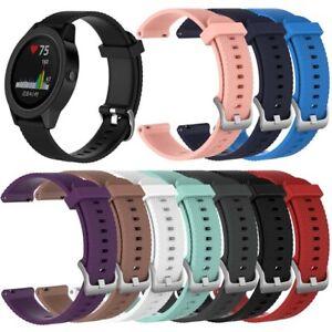 Garmin Vivoactive3/Vivomove/HR/Forerunner 645 Silicone Wrist Band Watch Strap