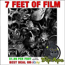 Hydrographic Film Skulls Hellions 7 X 20 Of Film Hydro Dip Dipping Dip Ape