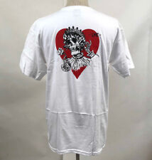 Loser Machine Men's T-Shirt Queen White Size S NWT Heart Rose Skull Playing Card