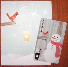 CS1517 2015 China Starbucks coffee christmas Snowman MSR card 1pc
