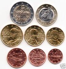 manueduc   GRECIA  2010  Las 8 Monedas  Nuevas SC con 2 €  NORMAL  RARO