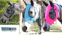 Professional's Choice Comfort Fit Horse & Arab Sizes Lycra Fly Mask with Ears