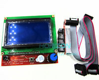 12864 Display LCD 3D Printer Controller +Adapter For RAMPS 1.4 Reprap Mendel New