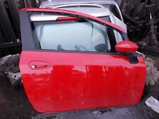 2008 FIAT GRANDE PUNTO OSF DRIVERS SIDE FRONT DOOR COMPLETE RED 176/A