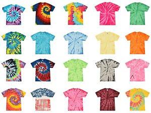 Multi-Color Tie Dye T-Shirts Adult SM - XXXXXL 100% Cotton Colortone