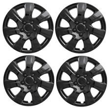 "NEW Gloss BLACK 16"" Hubcaps Wheelcover SET for 2010-2013 Mazda 3"